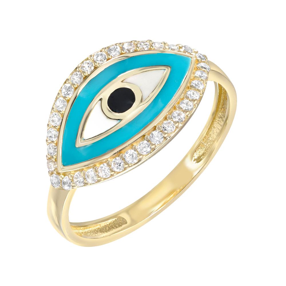 Evil Eye Pinky Ring