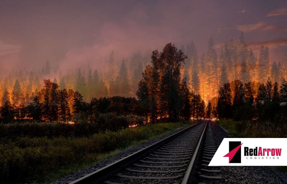 Wildfires Disrupt the U.S. and Canadian Supply Chains - Red Arrow Logistics