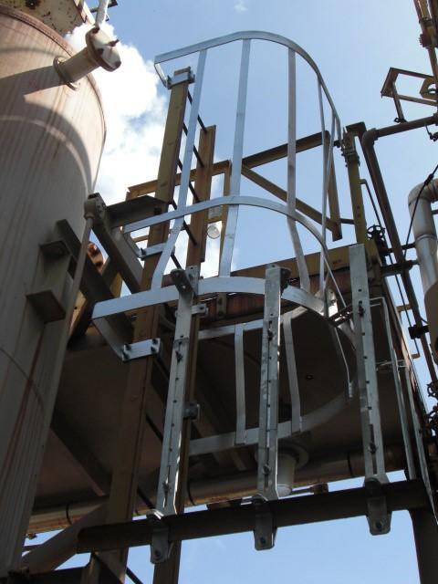 Ladder cage installed in Houston, TX
