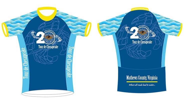 Tour de Chesapeake jerseys