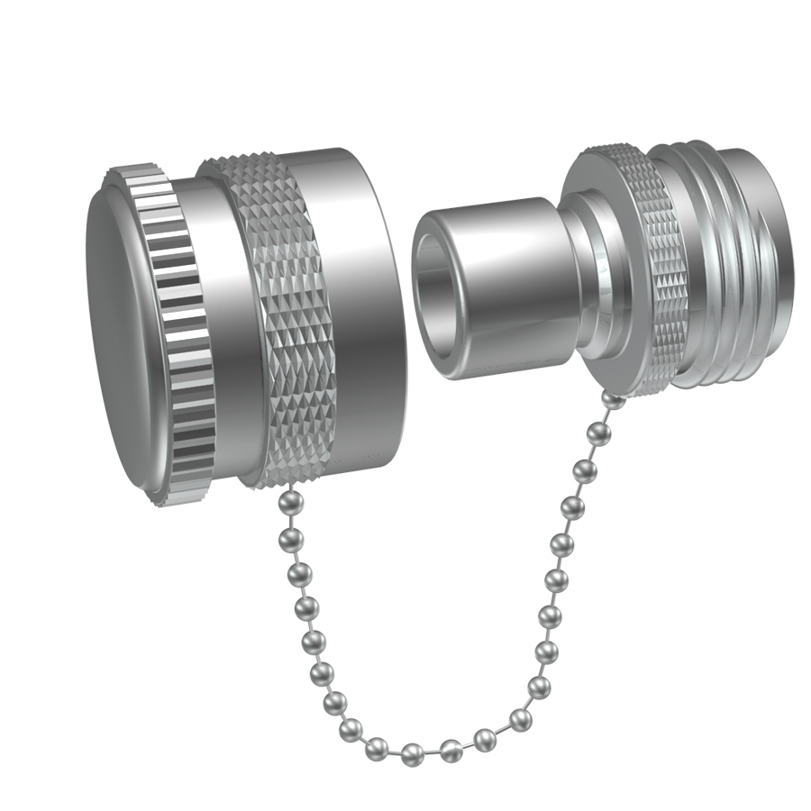 A water inlet with cap for converting a screw on water inlet to a quick connect water inlet.