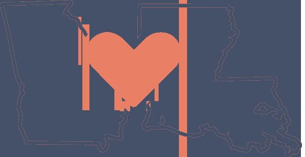GA and LA with Heart - The Peach Pelican