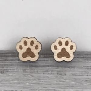 paw print stud earrings