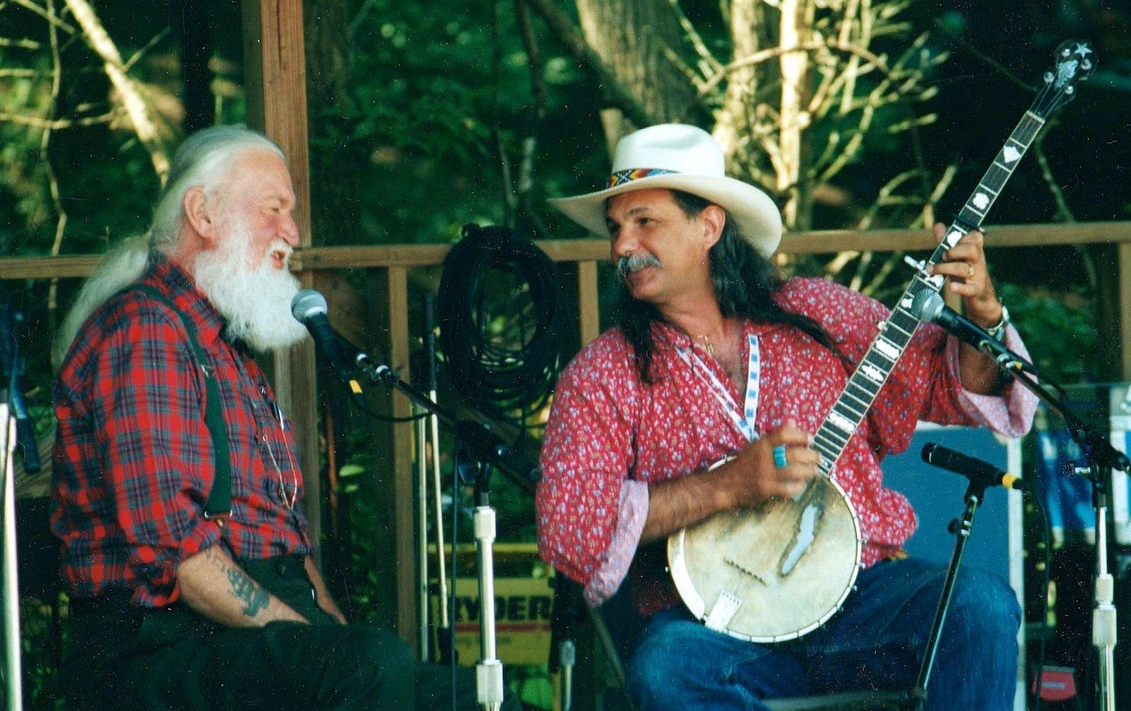 Utah Phillips & Rik performing at Philadelphia Folk Festival