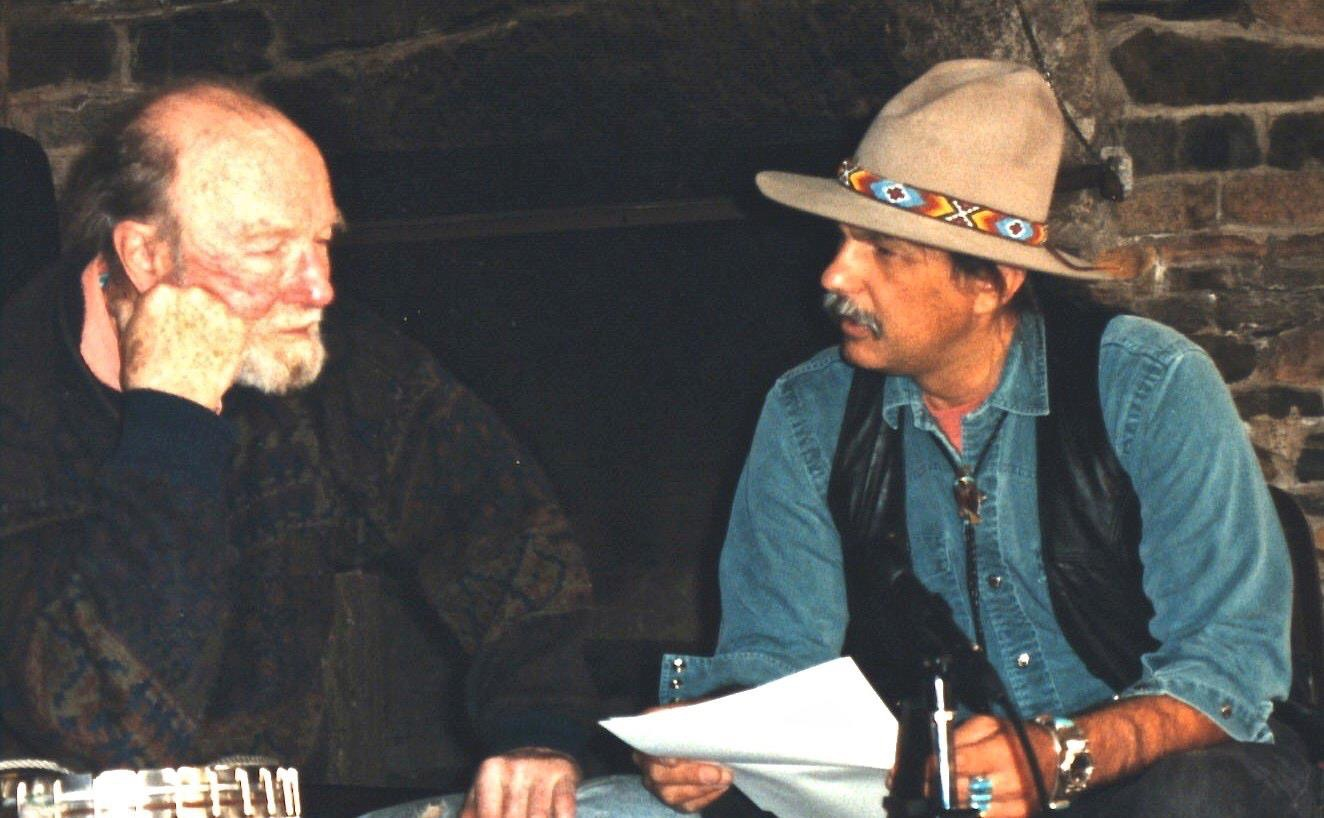 Rik interviewing Pete Seeger for The Songwriter's Notebook ~ 1999