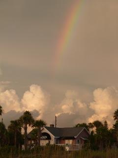 rainbow at beach
