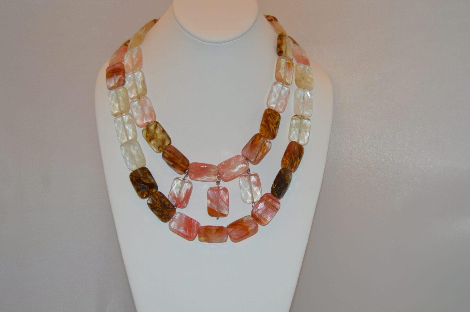A Cherry Quartz Statement Necklace