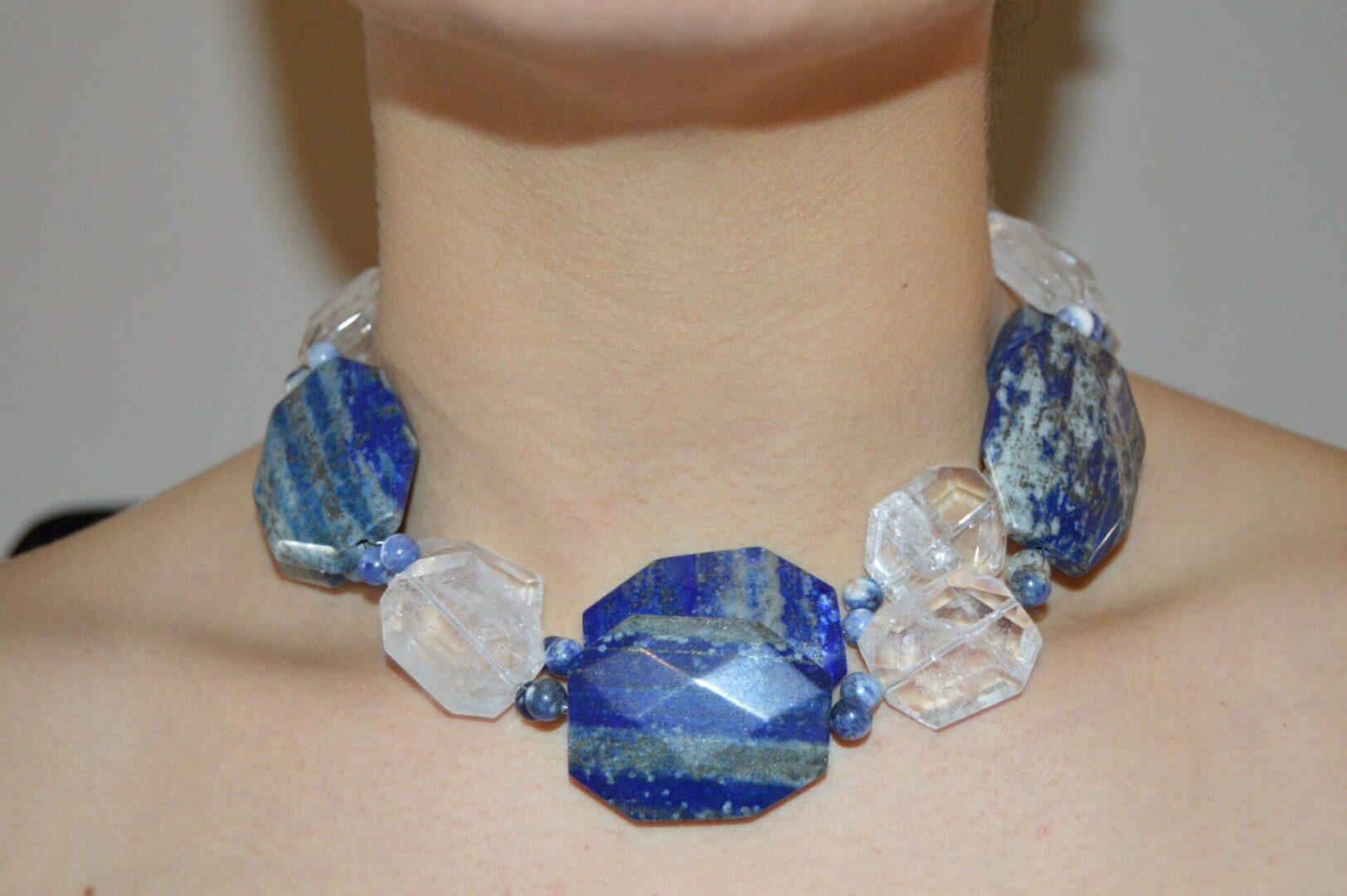 A Cleo Denim necklace