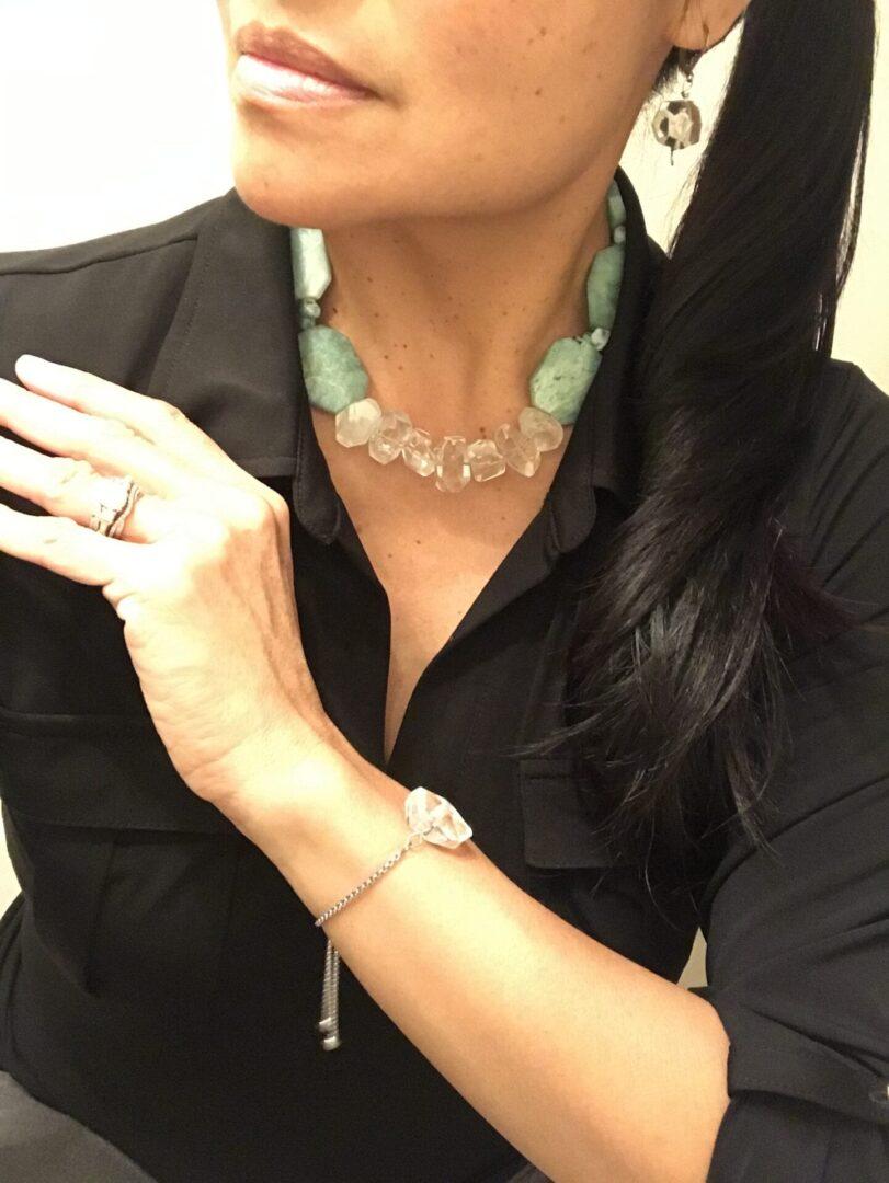 Xena Choker Bracelet and Earrings
