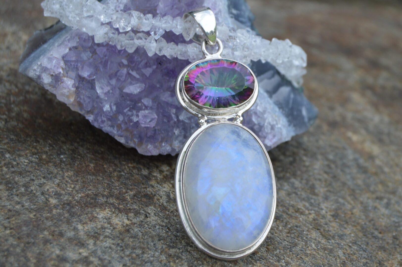 A Rainbow Artisan Pendant Necklace