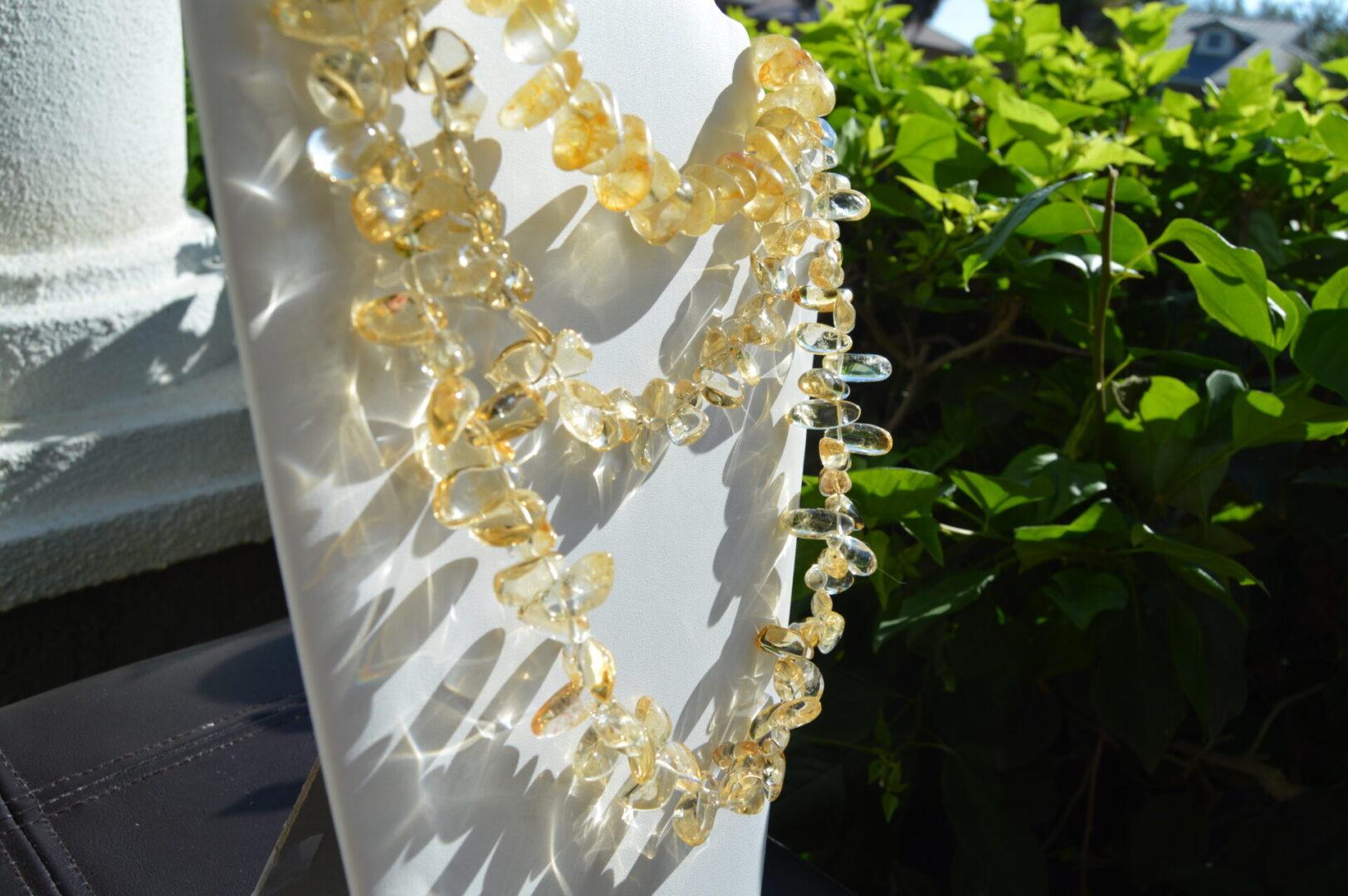 A Citrine necklace