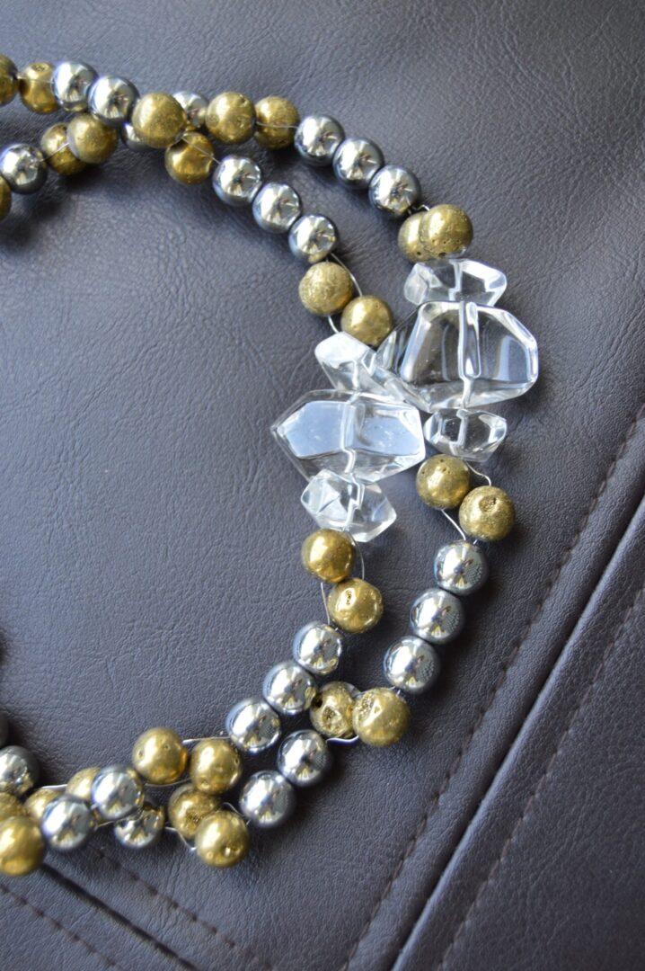 A Pyrite necklace