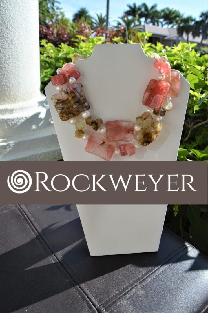 A cherry quartz necklace