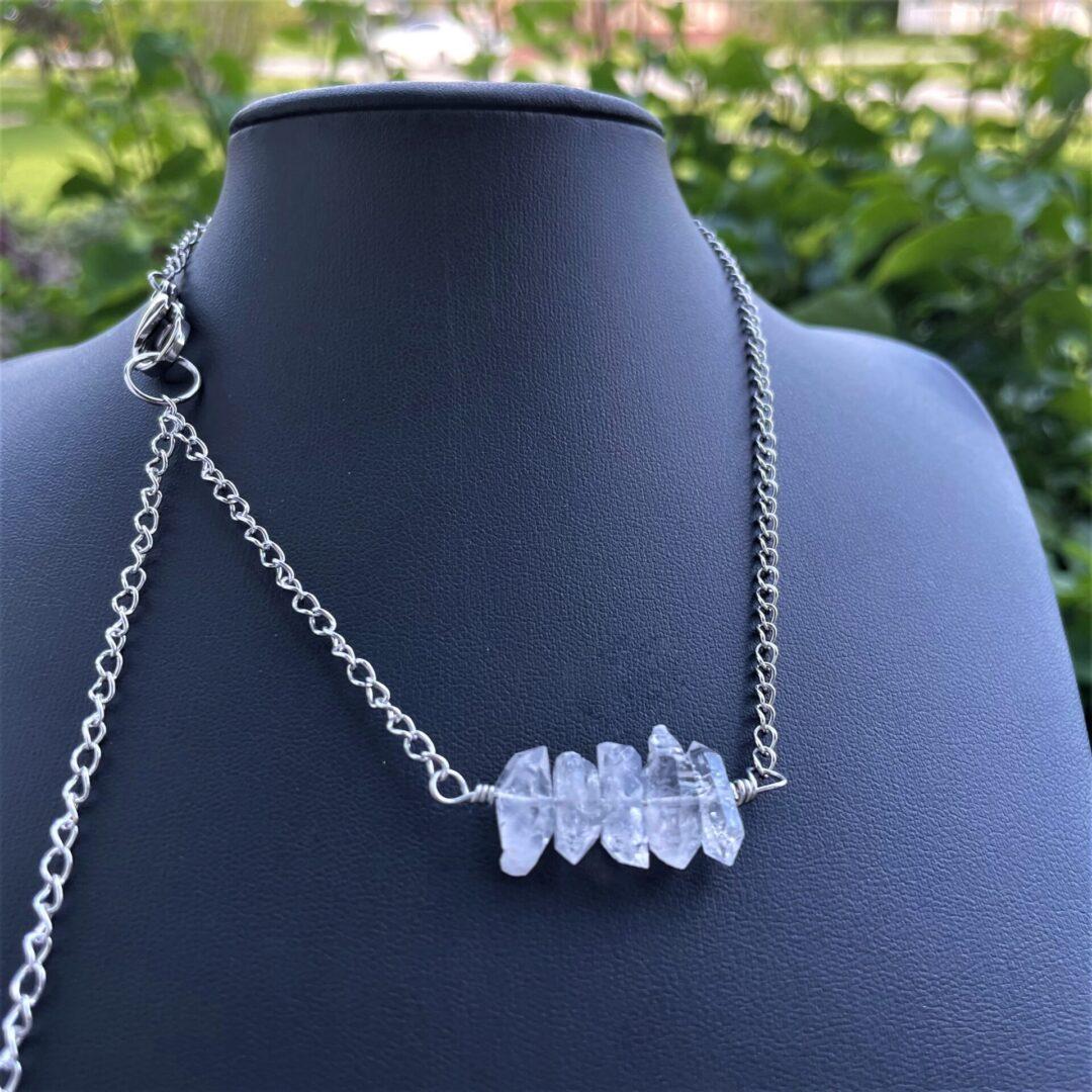 A Herkimer Diamond Quartz Whisper Necklace