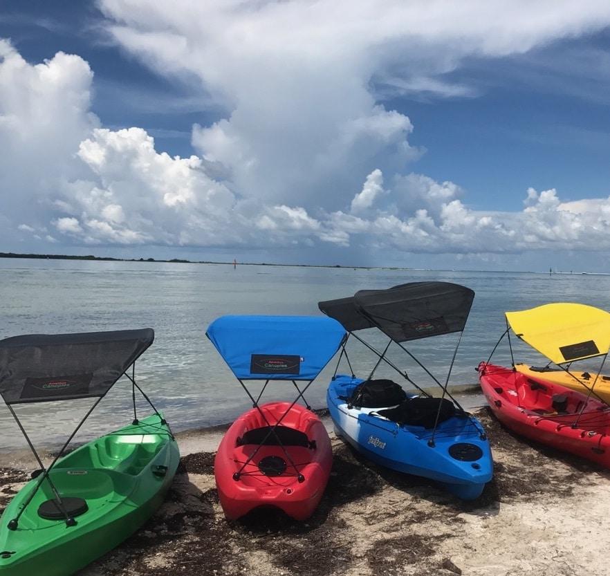 Kayak bimini top