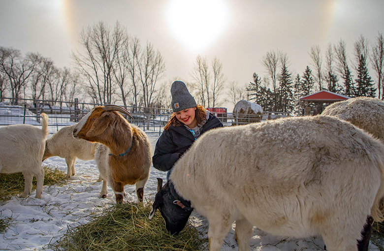Northland Community & Technical College Animal Science student Catherine Marty