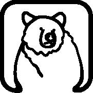 Custom graphic of a bear