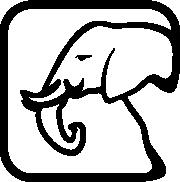 Custom graphic of a elephant