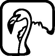 Custom graphic of a flamingo