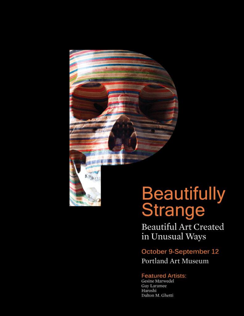 Front cover of Beautifully Strange Magazine Design