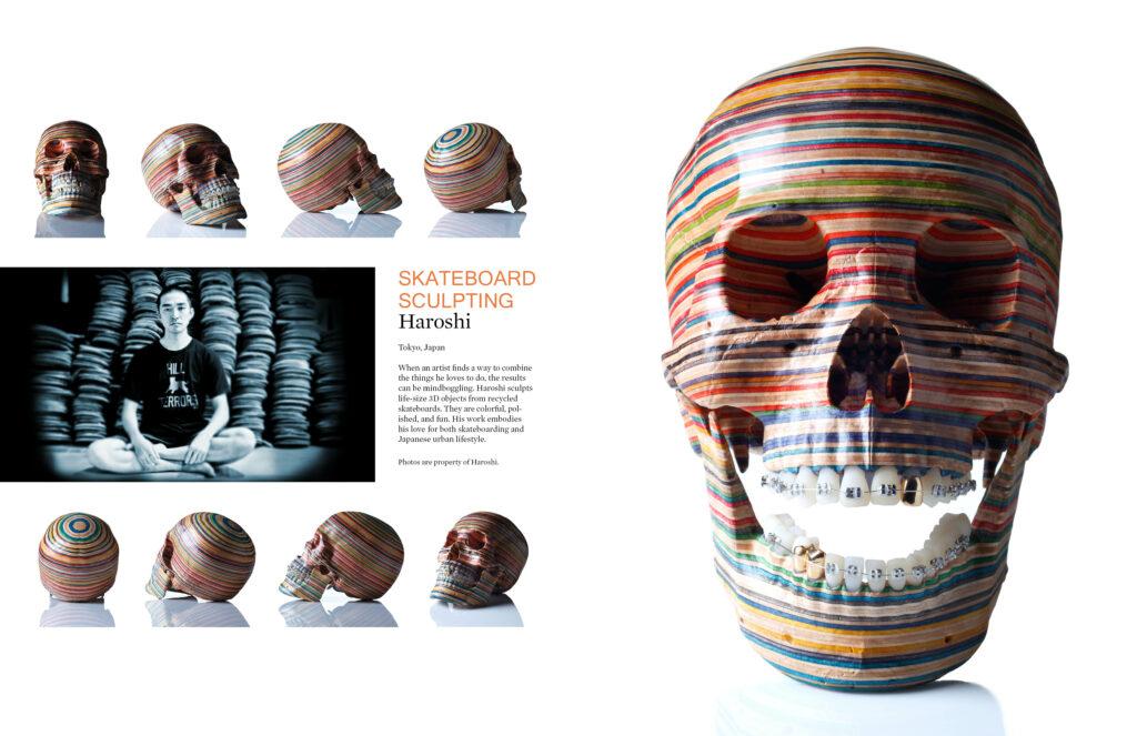Pages 5-6 of Beautifully Strange Magazine Design