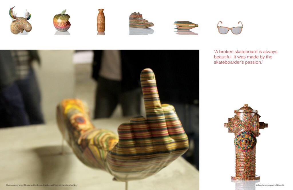 Pages 7-8 of Beautifully Strange Magazine Design