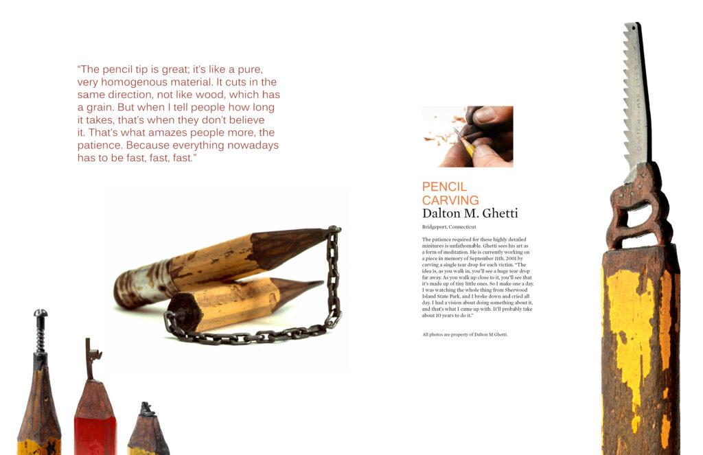 Pages 11-12 of Beautifully Strange Magazine Design