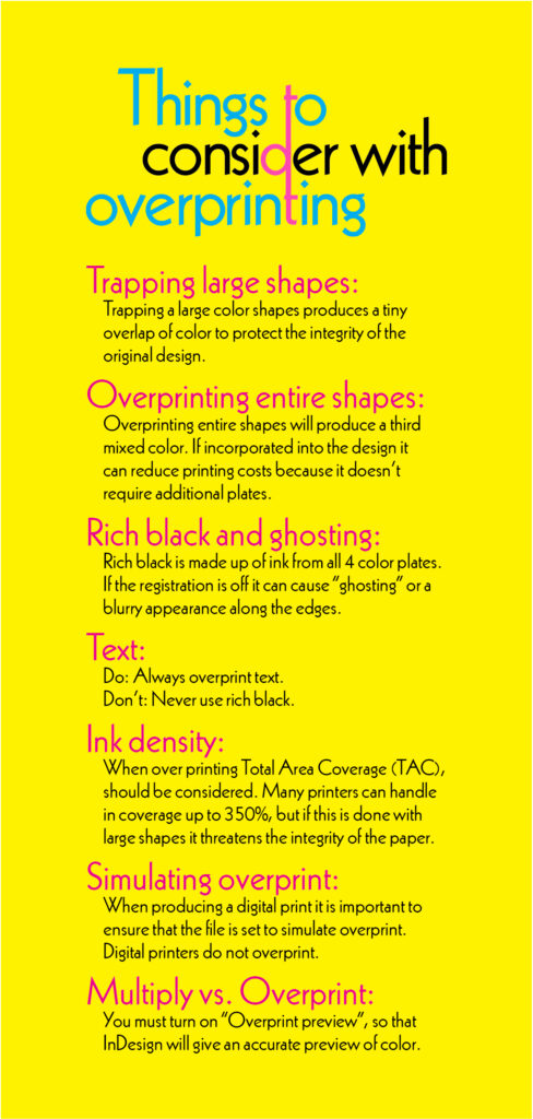 Things to Consider with Overprinting pullou