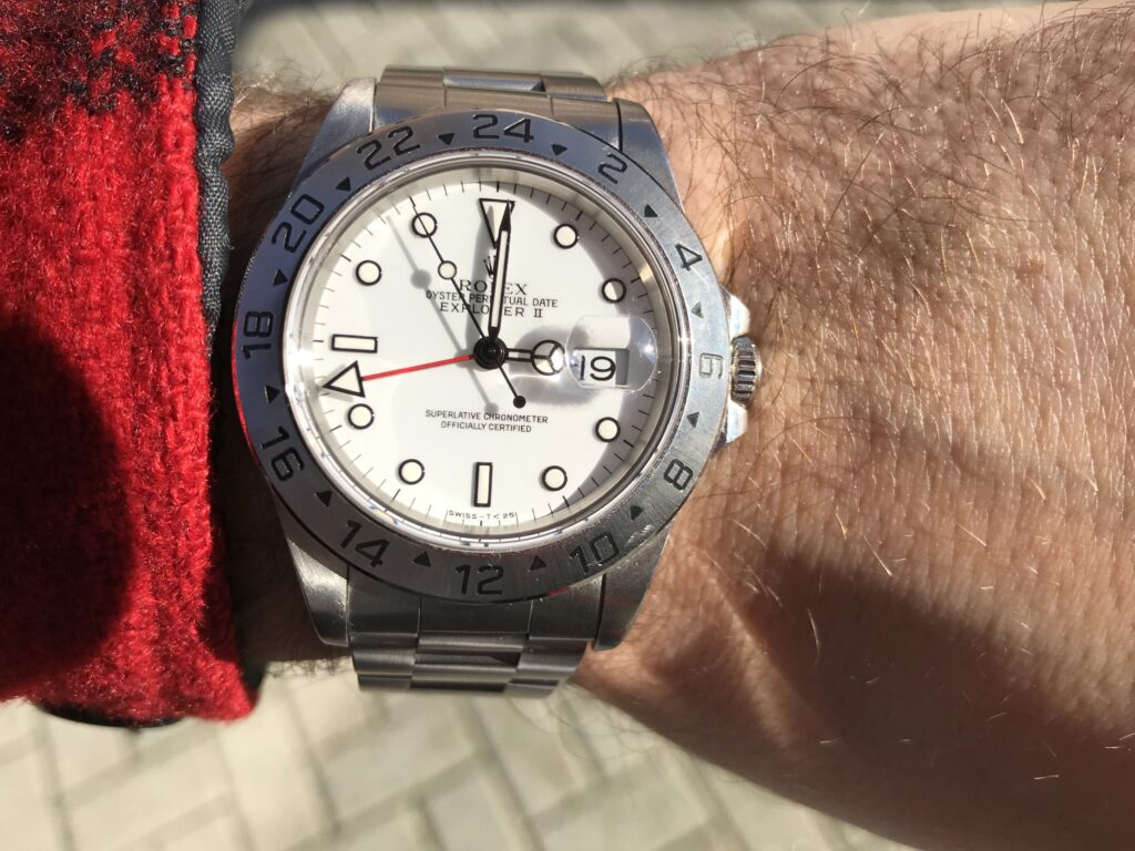 Rolex Explorer II Polar 16570 wrist shot