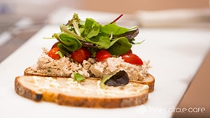 Tuna Salad Sandwich with local greens
