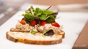 Tuna Salad Sandwich with local greens