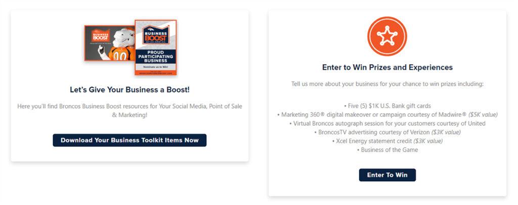 Broncos Business Boost program