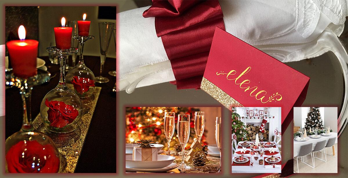 Mesas para Navidad y año nuevo