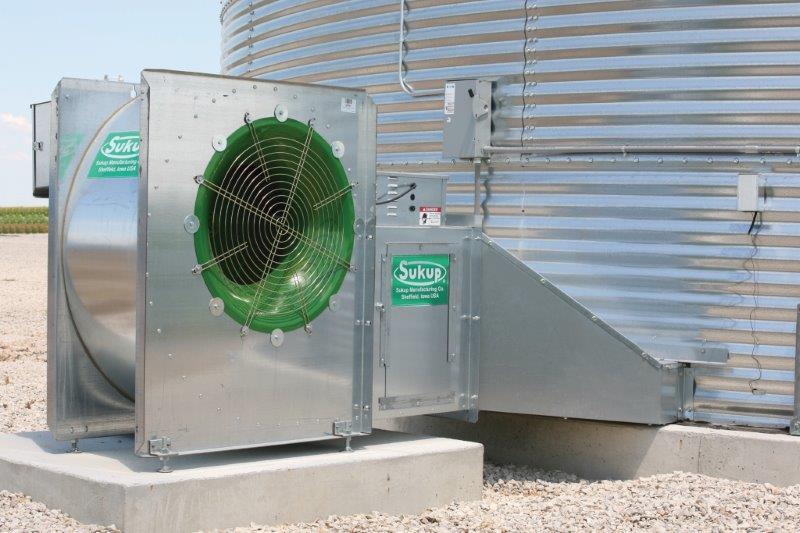 Centrifugal Fan and Heater on Bin
