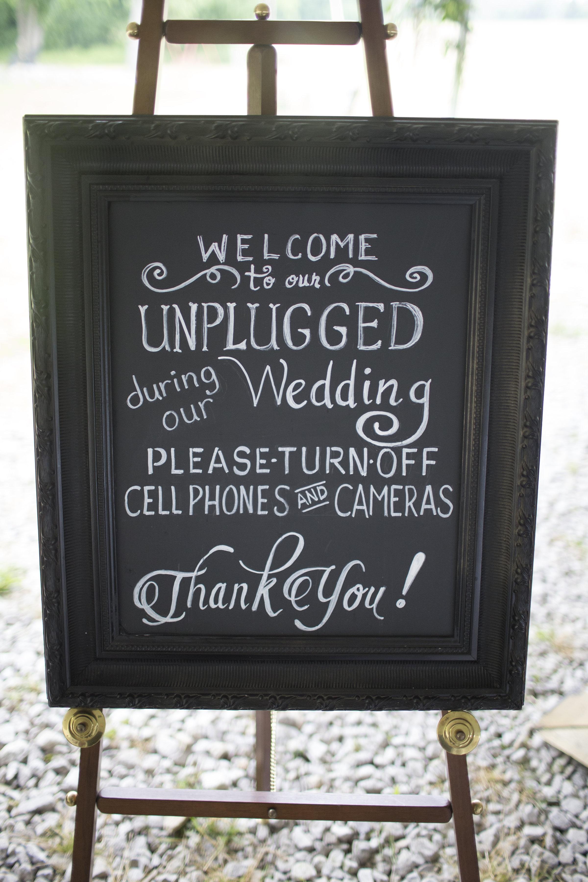 Black Unplugged Chalkboard
