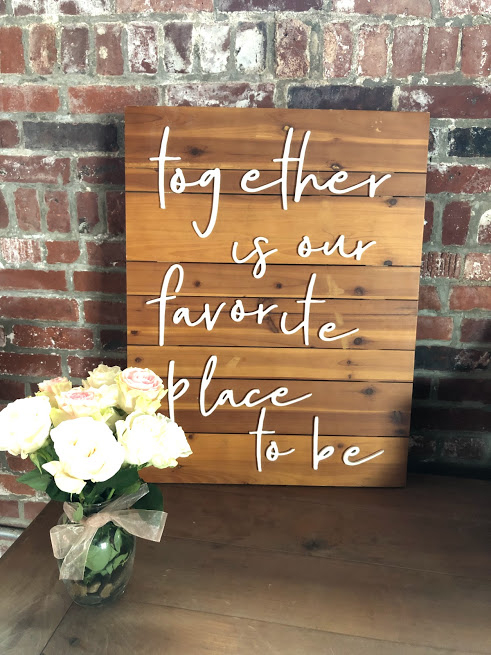 Together Sign Quote