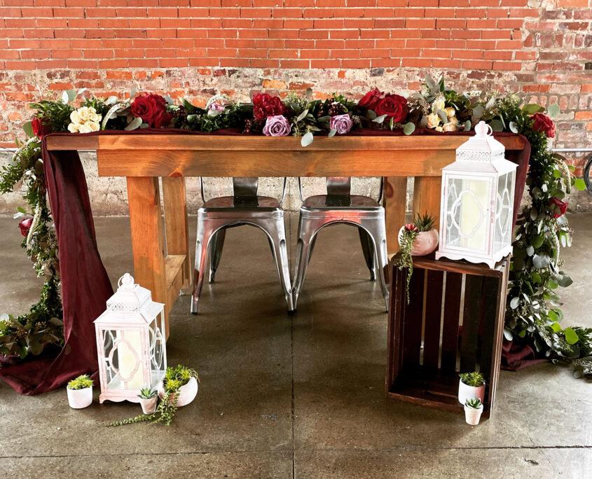 Nerdy Fox Sweetheart Table Design