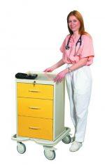 Hospital Isolation Carts (Mini 3 Drawer Tower)