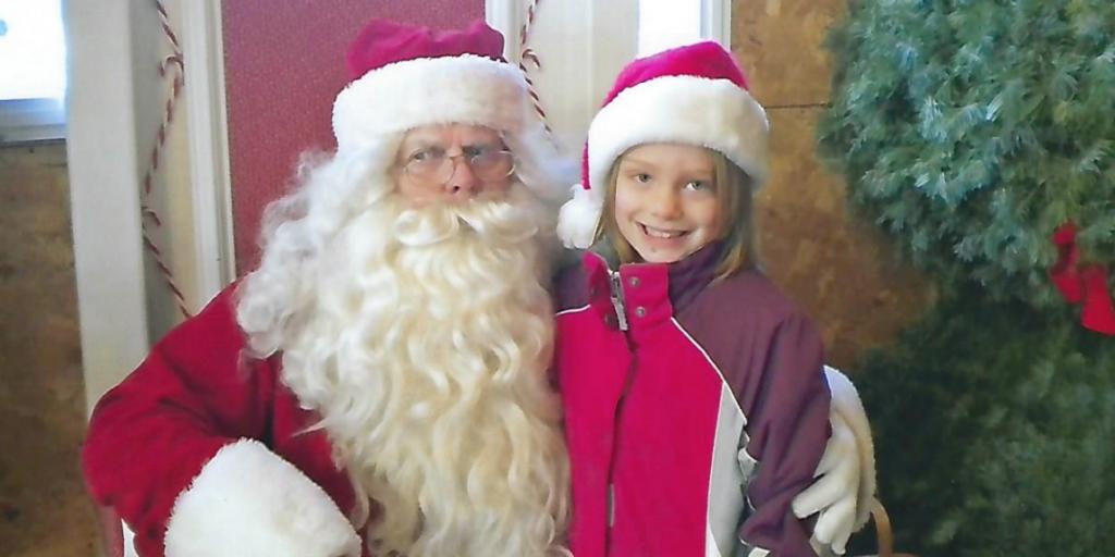 Ellie with Santa