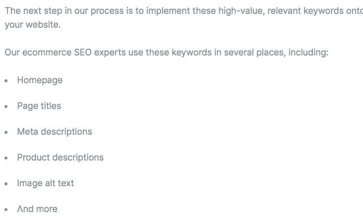 Keyword implementation