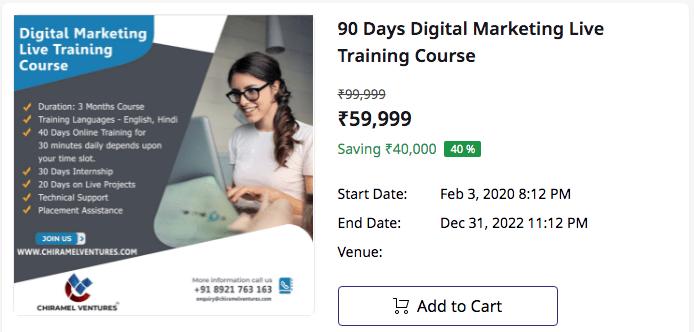 Digital Marketing Online Live Trainings