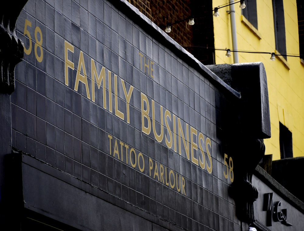 business with friends and family   family business sign