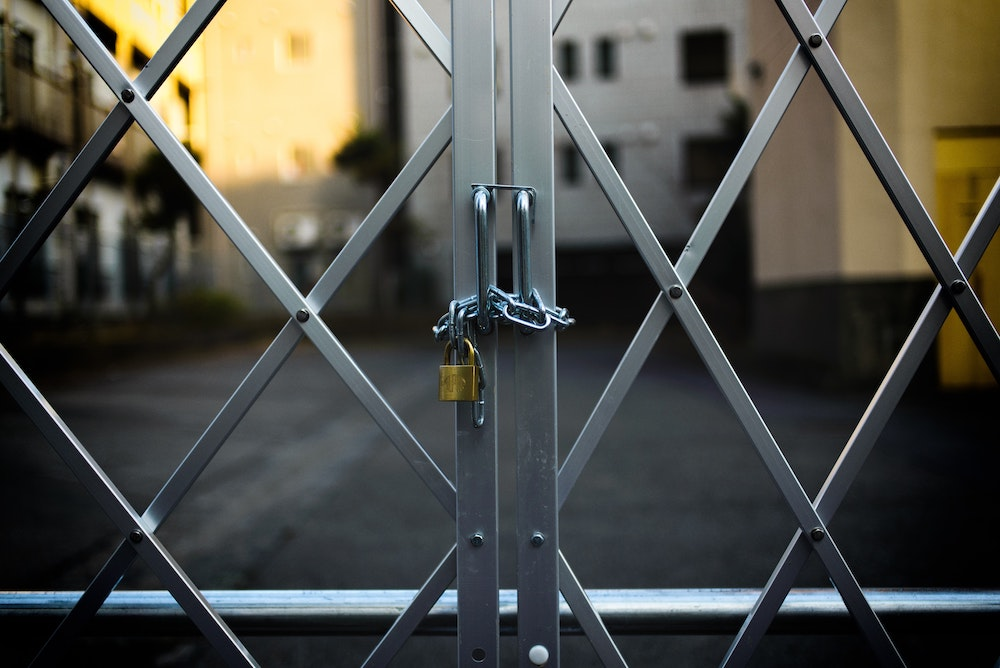 protect your assets   locked gate
