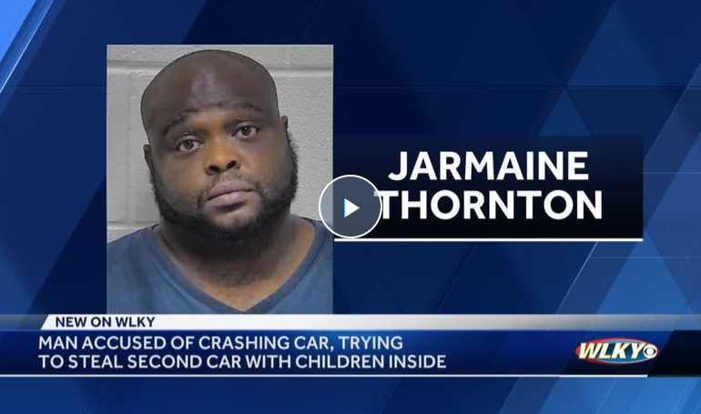 Wild police chase starts in Oldham County with dad fighting off suspect to protect his kids