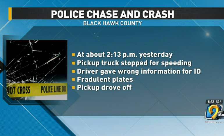One injured in Black Hawk County police chase ending in crash