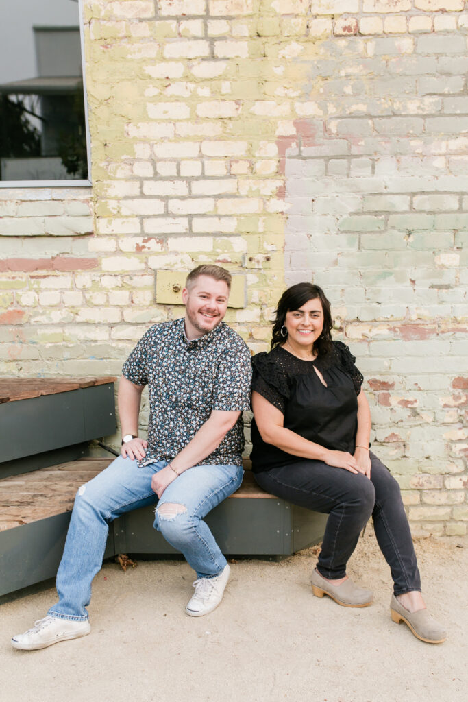 Shaun Crha and Rebecca Plumb, hosts of the Hot Young Designers Club Podcast