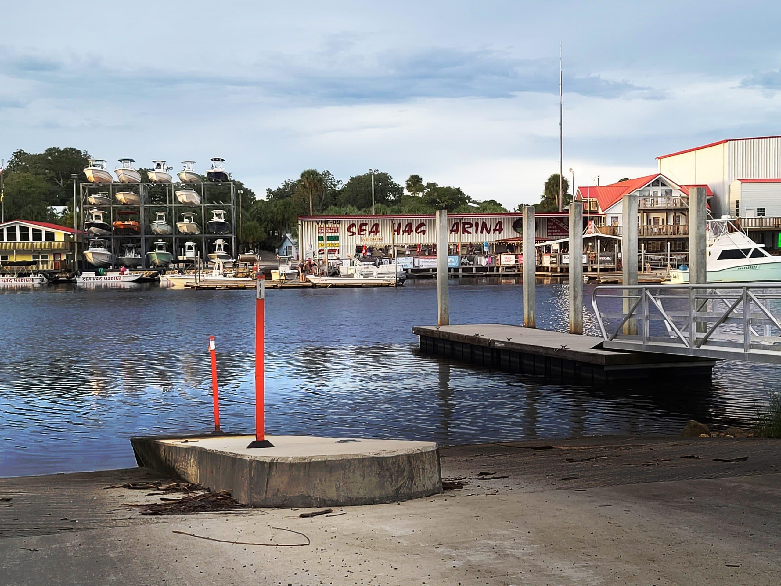 Marina view in Steinhatchee, FL