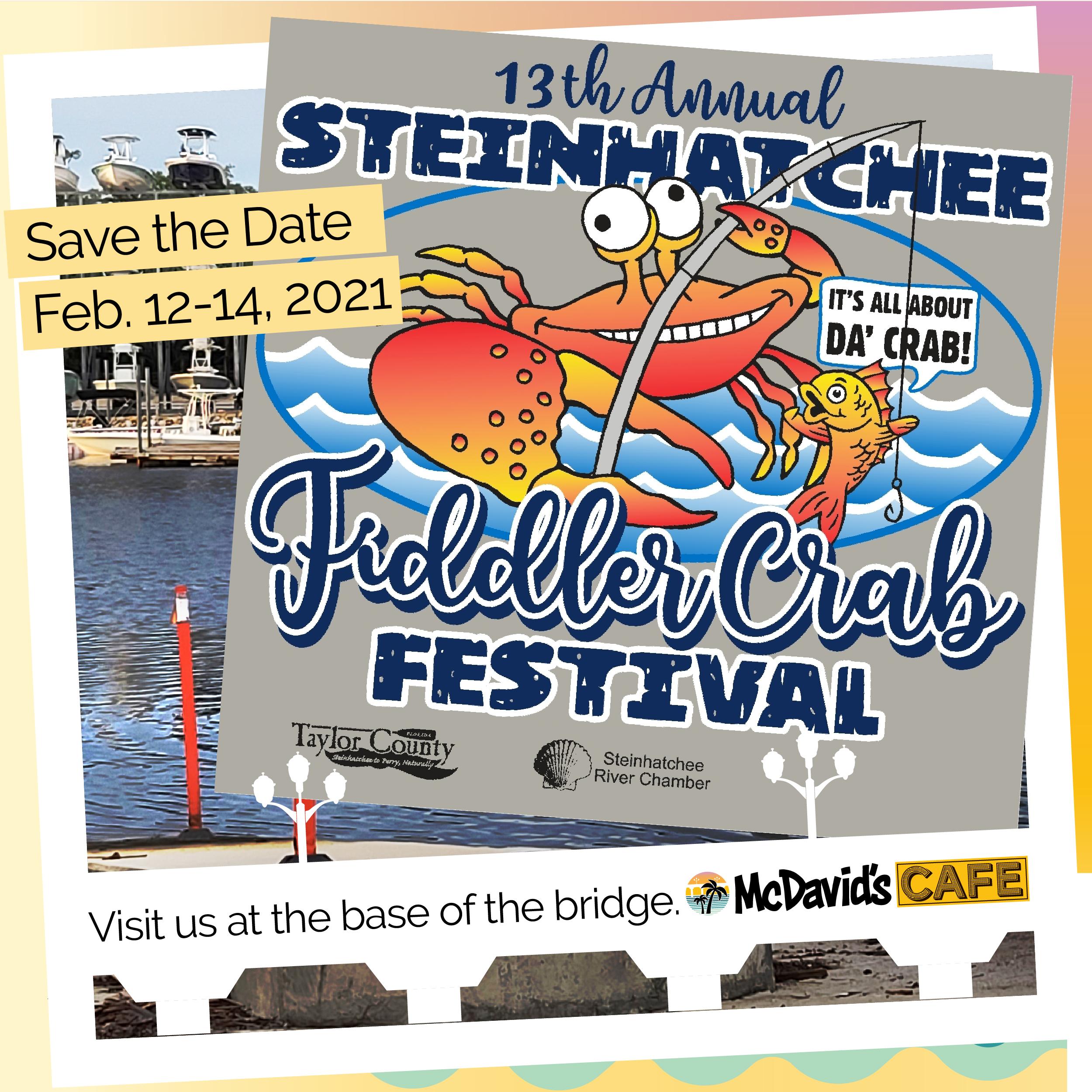 Fiddler Crab Festival 2021 - Steinhatchee, FL | Visit Us at McDavid's Cafe Southern Cuisine