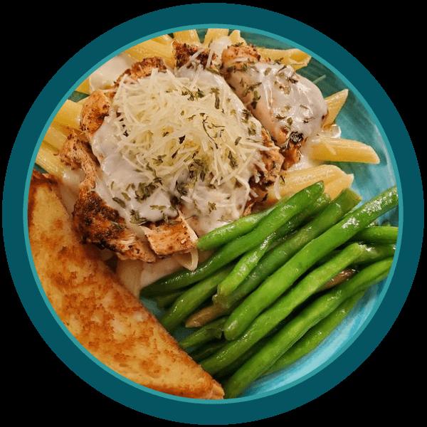 Blackened Chicken Alfredo - Lunch Specials   McDavids Cafe   Lunch Specials   Restaurant in Steinhatchee, FL