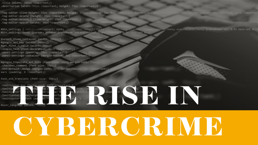 the rise in cybercrime
